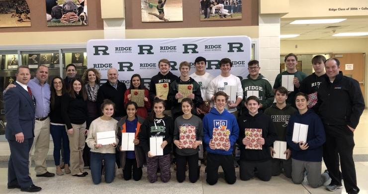 Ridge High School Student-Athletes Donate iPads to The Valerie Fund